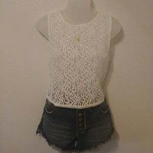 Rachel Roy Lace Crop Top